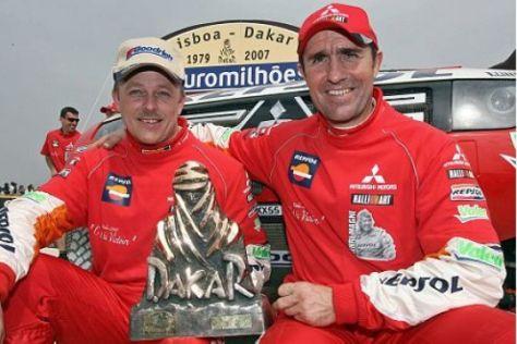 Mitsubishi gewinnt die Dakar 2007