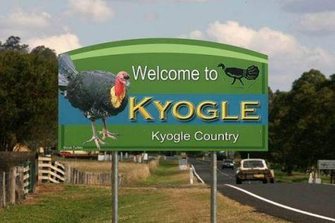 Kyogle ist eigentlich ein verschlafenes Nest - außer die WRC ist zu Gast