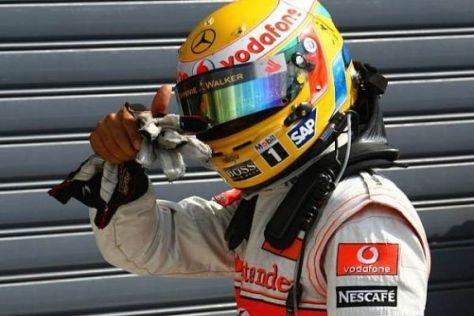 Lewis Hamilton verunfallte in Italien noch auf der letzten Rennrunde und schied aus