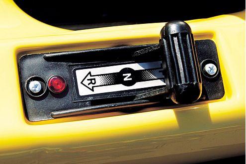 Der Mini Cooper fährt elektrisch, bei Bedarf auch rückwärts.