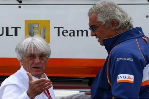 Bernie Ecclestone und Flavio Briatore kennen sich nun schon seit über 20 Jahren