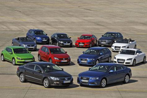 Vergleich: Audi gegen VW