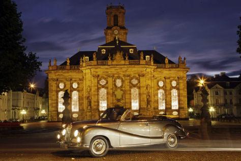 Die Barockstrasse im BMW 502 Cabriolet