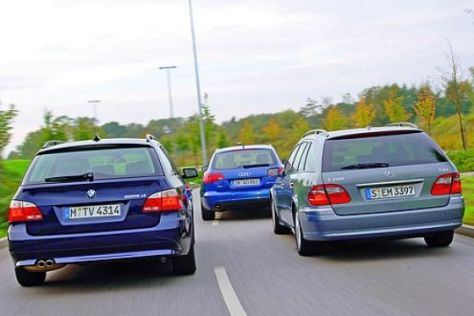 Test A6 Avant/5er Touring/Mercedes T