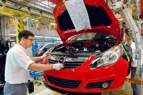 Produktion Opel Astra
