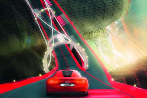 "Audi E-Tron im Rennspiel ""Vertical Run"""