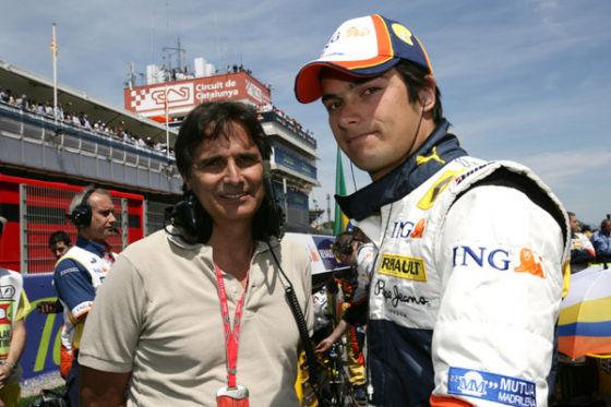 Nelson Piquet jr. (l.) mit Vater
