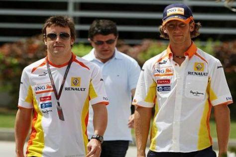 Der Sport ist bei Fernando Alonso und Romain Grosjean im Vordergrund