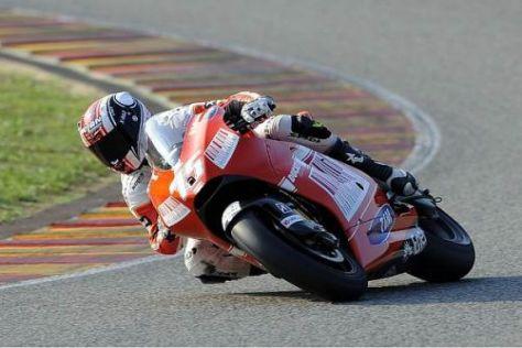 Mattia Pasini konnte Ducati beim Test in Mugello von sich überzeugen
