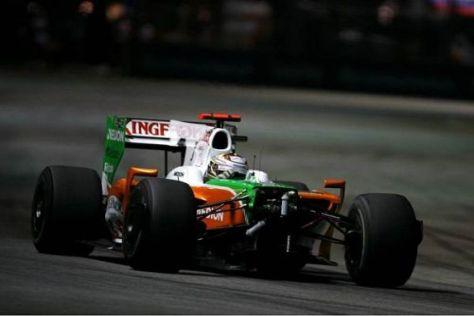 Adrian Sutil fuhr nach der Kollision mit Nick Heidfeld zunächst weiter
