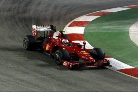 Kimi Räikkönen rutschte der Konkurrenz in Singapur hoffnungslos hinterher