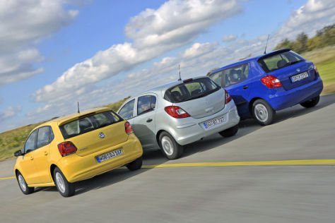 VW Polo Opel Corsa Skoda Fabia