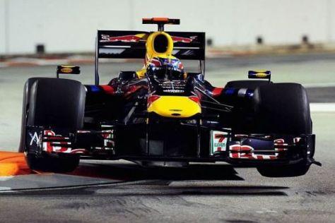 Mark Webber hatte erst Überholstress, dann rutschte er mit seinem RB5 vom Kurs