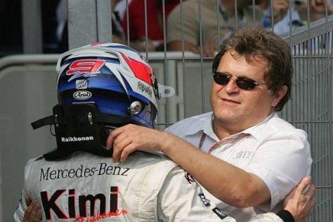 Sportchef Norbert Haug versteht sich immer noch gut mit Kimi Räikkönen