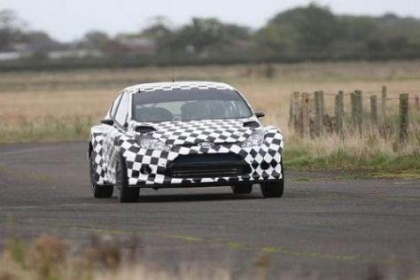 Fahrbereit: Der neue Ford Fiesta S2000 beim Shakedown in Cumbria