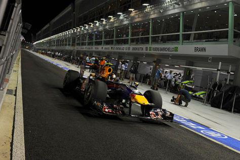 Sebastian Vettel Boxenausfahrt GP Singapur