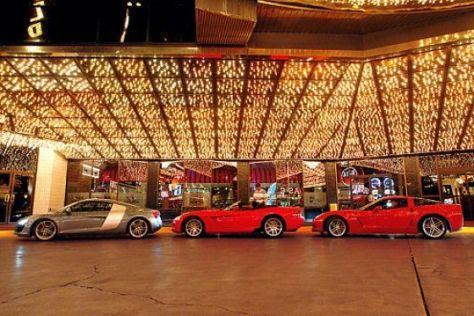 Test Audi R8 gegen Corvette und Viper