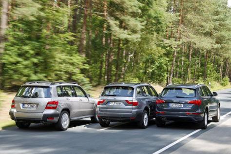 Mercedes GLK BMW X3 Audi Q5