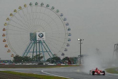 Das Riesenrad ist so etwas wie ein Wahrzeichen der Strecke in Suzuka