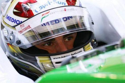 Adrian Sutil am Freitag in Suzuka: Es läuft wieder viel besser