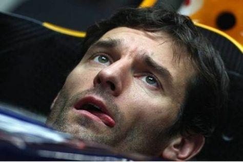 Pech für Mark Webber: Der Australier muss im Qualifying zuschauen