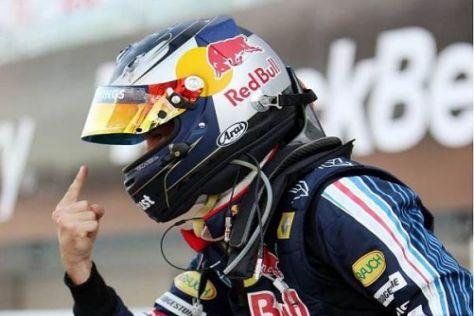 Sebastian Vettel jubelt über seine fünfte Pole-Position der Formel-1-Karriere