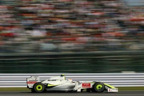 Rubens Barrichello war erneut schneller unterwegs als Teamkollege Jenson Button