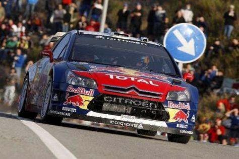 Sébastien Loeb fährt in Spanien wieder einmal dem Sieg entgegen