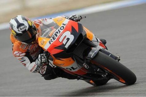 Dani Pedrosa stellte sein Honda-Motorrad in Portugal auf den vierten Startplatz