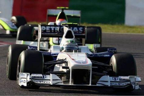 Nick Heidfeld konnte beide Brawn-Autos hinter sich lassen
