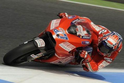 Casey Stoner ist wieder zurück an der Spitze: Bestzeit im Warmup der MotoGP