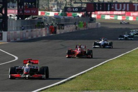 Lewis Hamilton fehlten im Verlauf des Rennens die KERS-Zusatz-PS