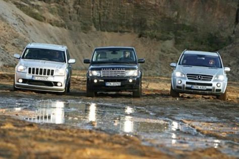 Test Jeep/Mercedes/Range Rover
