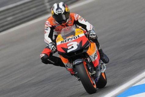 Dani Pedrosa landete in Portugal als Dritter auf dem MotoGP-Siegertreppchen