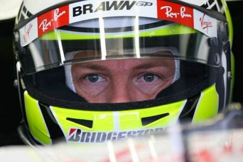 Extrem fokussiert: Für Favorit Jenson Button zählt nur der Titelgewinn