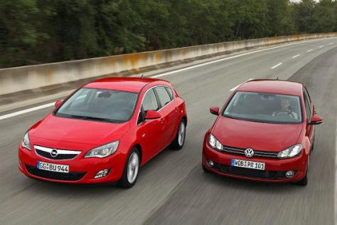 Opel Astra und VW Golf VI