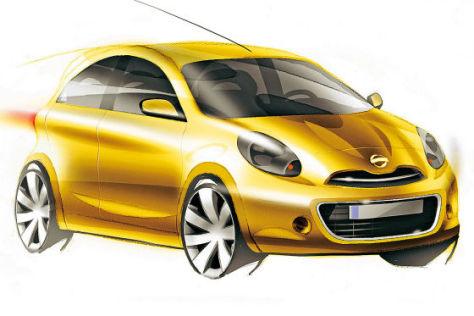 Nissan Micra Skizze: Start im März 2010