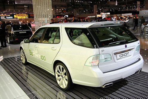 Saab baut auf Biopower: Studie des 9-5 mit Ethanol-Antrieb.