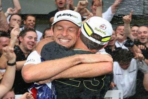 Eine große Männerfreundschaft: Jenson Button und Rubens Barrichello