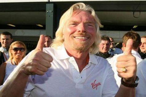 Daumen hoch: Richard Branson hatte mit Brawn den richtigen Formel-1-Riecher