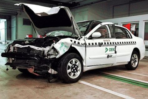 Die China-Limousine BS 6 im Crashtest