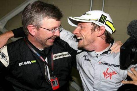 Ross Brawn und Jenson Button verhandeln derzeit einen Vertrag für 2010