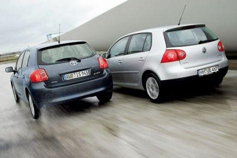 Toyota Auris gegen VW Golf