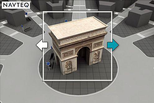 Navigieren in 3D: Navteq bringt Ende 2007 räumliches Kartenmaterial.