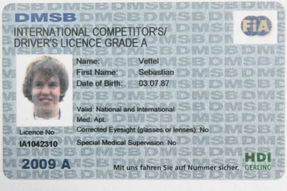 A-Lizenz Sebastian Vettel