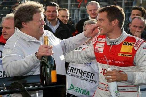 Norbert Haug und Timo Scheider haben heute beide Grund zu Feiern