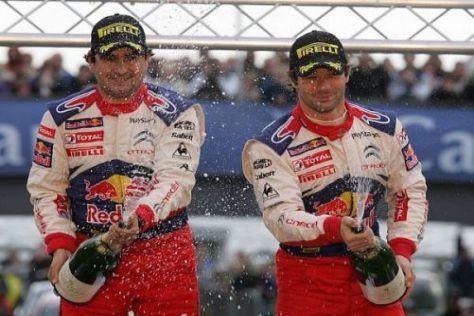 Daniel Elena und Sébastien Loeb feiern ihren sechsten Weltmeistertitel