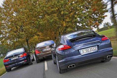 Porsche Panamera Mercedes S-Klasse BMW 7er