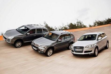 Test Audi Q7, BMW X5, Porsche Cayenne S