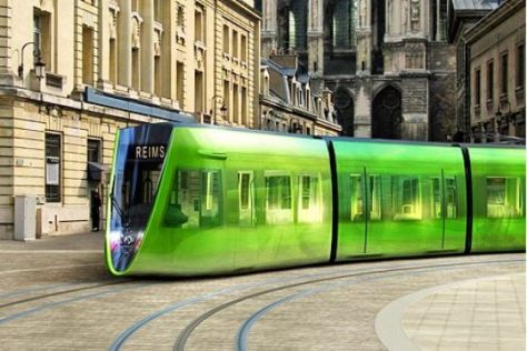 Designer-Straßenbahn